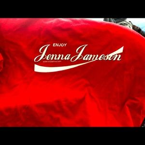 Jenna Jameson red tee size large 100% cotton